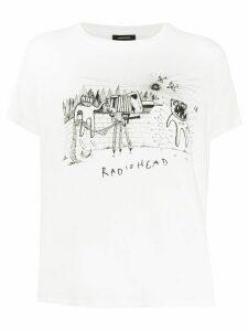 R13 Radiohead print T-shirt - White