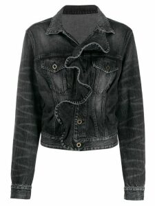 UNRAVEL PROJECT ruffled denim jacket - Black