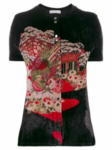 Paco Rabanne Japanese Garden-jacquard cardigan - Black