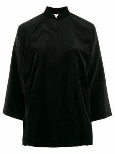 Comme Des Garçons Comme Des Garçons mandarin collar velvet shirt -