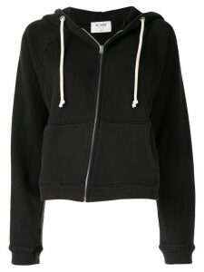 Re/Done asymmetric zipped hoodie - Black