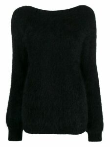 Semicouture rear cut-detail jumper - Black