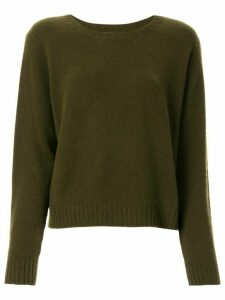 Suzusan long-sleeve cashmere jumper - Green