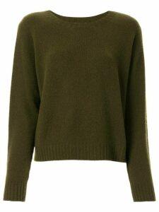 Suzusan long-sleeve cashmere jumper - Green