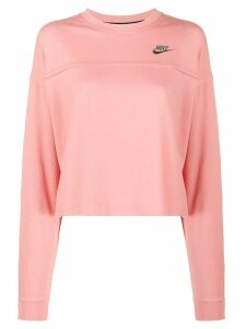 Nike Heritage embroidered logo sweatshirt - PINK