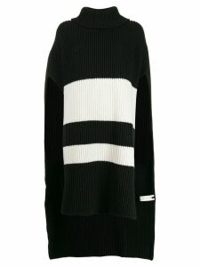 Joseph striped knit poncho - Black