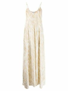 Forte Forte printed maxi dress - NEUTRALS