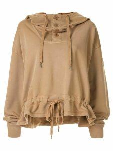 Nº21 drawstring hem hoodie - Be