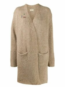 Zadig & Voltaire wrap-style knit cardigan - NEUTRALS