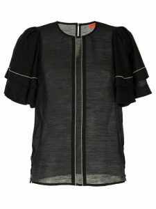 Manning Cartell sheer Global Roaming top - Black