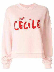 Être Cécile logo printed sweatshirt - PINK