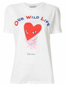 Être Cécile owl print T-shirt - White