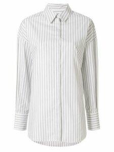 Partow Hugo striped shirt - White