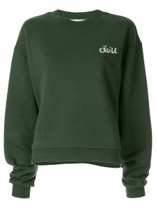 Être Cécile Cat Eyes Alexis sweatshirt - Green