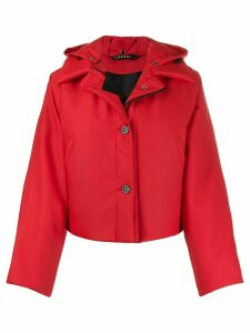 Kassl Editions rubberised cropped puffer jacket - Red