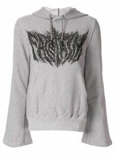 Facetasm graphic print hoodie - Grey