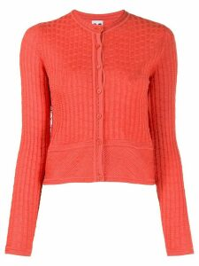 M Missoni geometric pattern cropped cardigan - ORANGE