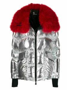 Moncler Grenoble Atena metallic puffer jacket - SILVER