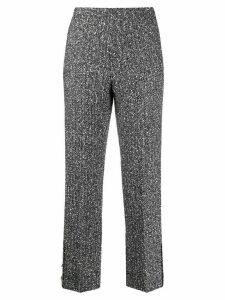 20:52 marl cigarette trousers - Black