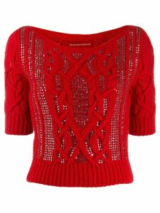 Ermanno Scervino knitted embellished jumper - Red