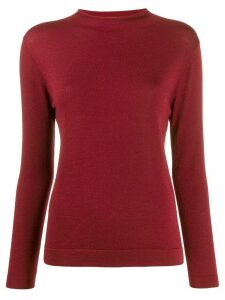 N.Peal mock neck jumper - Red