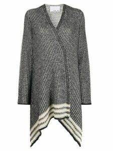 20:52 metallic knit cardigan - Black