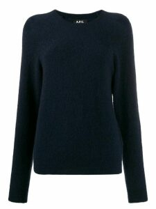 A.P.C. textured crew neck sweater - Blue