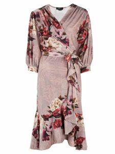Patbo floral print wrap dress - PINK