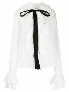 Milla Milla ruffled bow-embellished shirt - White