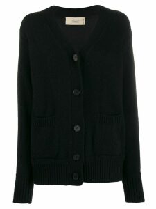 Maison Flaneur V-neck relaxed-fit cardigan - Black