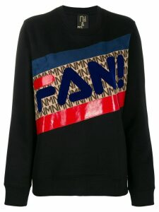 Nil & Mon Fan stripe sweatshirt - Black