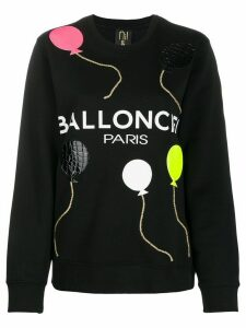Nil & Mon balloon-patch sweatshirt - Black