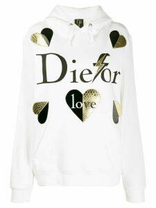 Nil & Mon printed hoodie - White