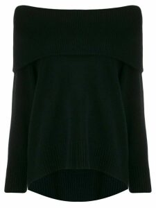 N.Peal off the shoulder jumper - Black