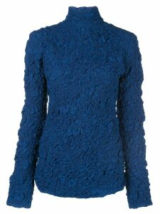 Lemaire crinkled turtleneck top - Blue