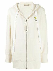 Maison Kitsuné logo patch hoodie - White