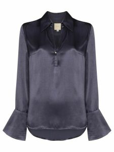 USISI Catarina satin blouse - Blue