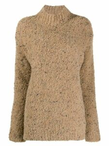 GANNI turtleneck knitted jumper - NEUTRALS