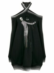 Marco De Vincenzo embellished cold shoulder jumper - Black