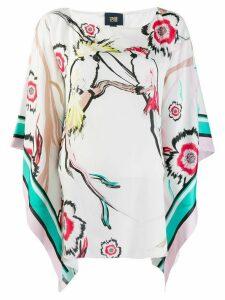 Cavalli Class floral print blouse - White