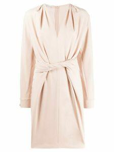 Stella McCartney twist-front split-sleeve dress - PINK