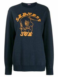Undercover 'Sadness Sue' print sweatshirt - Blue