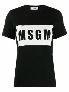 MSGM box logo T-shirt - Black