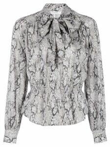 FRAME snakeskin-print silk shirt - Grey