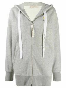 Maison Kitsuné logo patch hoodie - Grey