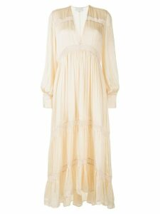 Arjé Phoebe flared maxi dress - White