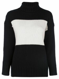 Polo Ralph Lauren colour-block turtleneck jumper - Black