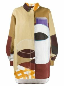 Jacquemus geometric print shirt - NEUTRALS