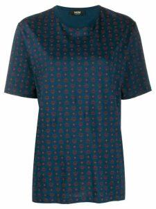 MCM monogram logo print T-shirt - Blue