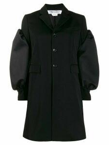 Comme Des Garçons Comme Des Garçons puff sleeves single breasted coat
